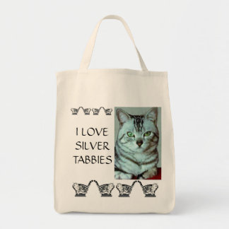 I Love Silver Tabbies Tote Bag