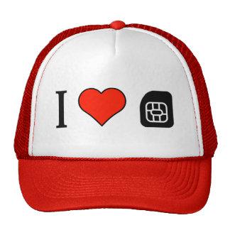 I Love Sim Cards Trucker Hat