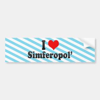 I Love Simferopol', Ukraine Car Bumper Sticker