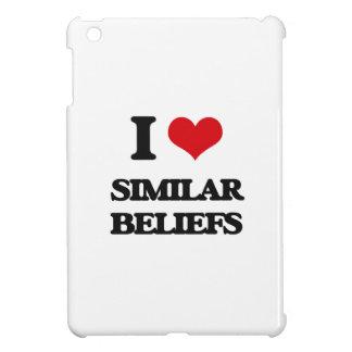 I Love Similar Beliefs iPad Mini Cover