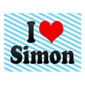 I love Simon Postcard
