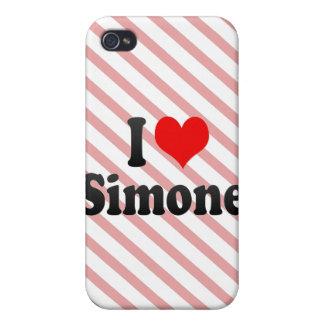 I love Simone Case For iPhone 4
