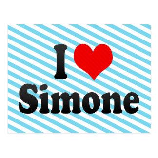 I love Simone Postcard