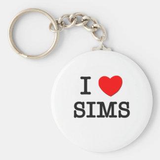 I Love Sims Keychain