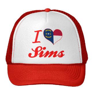 I Love Sims, North Carolina Trucker Hat
