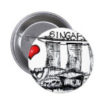 I love Singapore 2 Inch Round Button