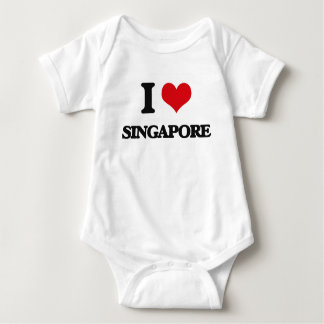 I Love Singapore Baby Bodysuit