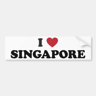 I Love Singapore Bumper Sticker