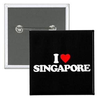 I LOVE SINGAPORE PINS