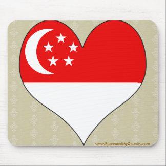 I Love Singapore Mouse Pad