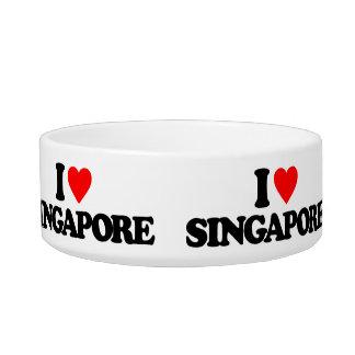 I LOVE SINGAPORE PET WATER BOWLS