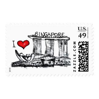 I love Singapore Stamp