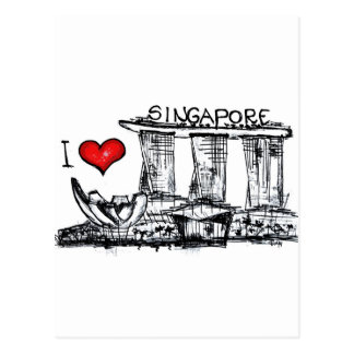 I love Singapore Postcard
