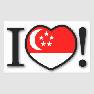 I Love Singapore Sticker