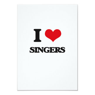 "I Love Singers 3.5"" X 5"" Invitation Card"