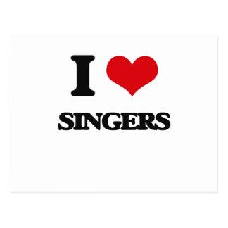 I Love Singers Postcard