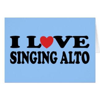 I Love Singing Alto Music Gift Card