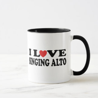 I Love Singing Alto Music Gift Mug