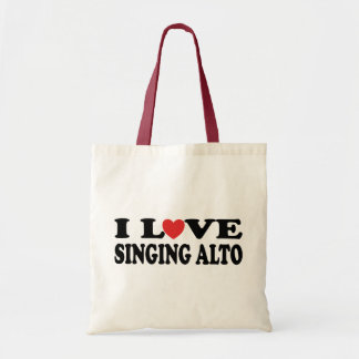I Love Singing Alto Music Gift Tote Bag