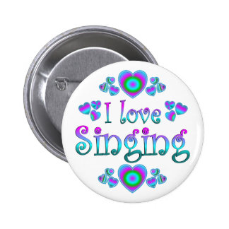 I Love Singing Pinback Button