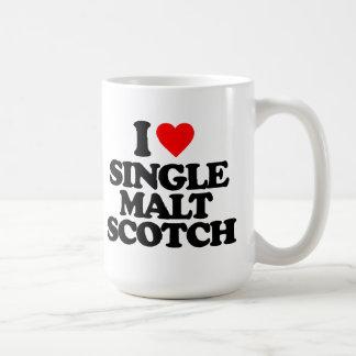 I LOVE SINGLE MALT SCOTCH COFFEE MUGS