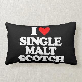 I LOVE SINGLE MALT SCOTCH THROW PILLOW