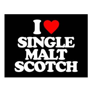 I LOVE SINGLE MALT SCOTCH POSTCARD