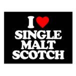 I LOVE SINGLE MALT SCOTCH POSTCARDS