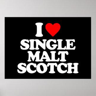 I LOVE SINGLE MALT SCOTCH PRINT