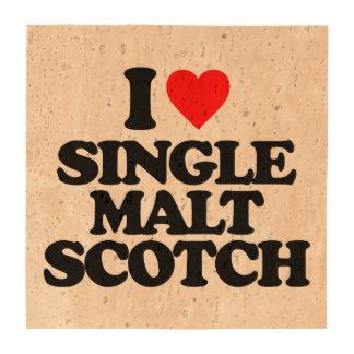 I LOVE SINGLE MALT SCOTCH COASTERS