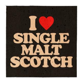 I LOVE SINGLE MALT SCOTCH BEVERAGE COASTERS
