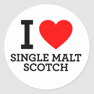 I Love Single Malt Scotch Sticker