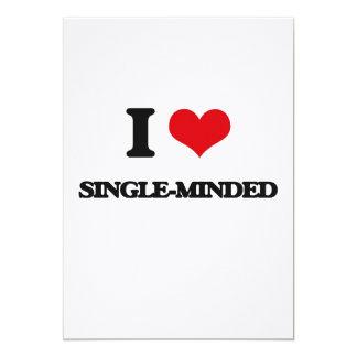 "I Love Single-Minded 5"" X 7"" Invitation Card"