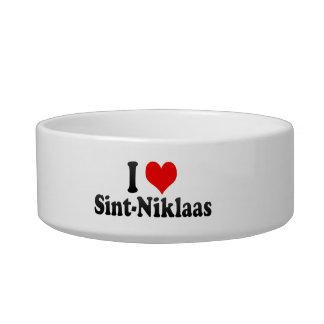 I Love Sint-Niklaas, Belgium Cat Bowls