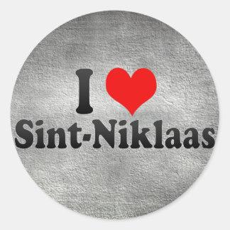 I Love Sint-Niklaas, Belgium Round Stickers