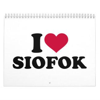 I love Siofok Calendar
