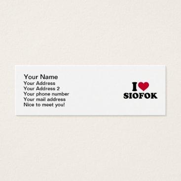 Beach Themed I love Siofok Mini Business Card