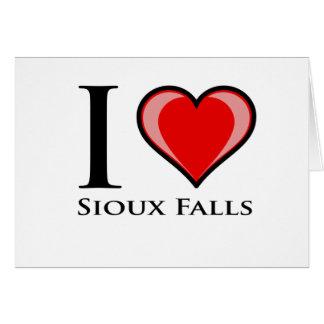 I Love Sioux Falls Card