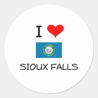 I Love Sioux Falls South Dakota Classic Round Sticker