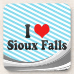 I Love Sioux Falls, United States Drink Coasters
