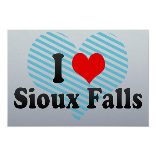 I Love Sioux Falls, United States Poster