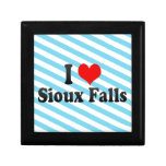 I Love Sioux Falls, United States Trinket Boxes