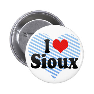 I Love Sioux Pinback Button
