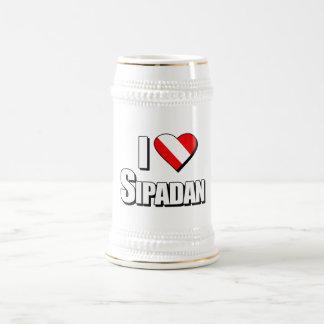 I Love Sipadan Diving 18 Oz Beer Stein