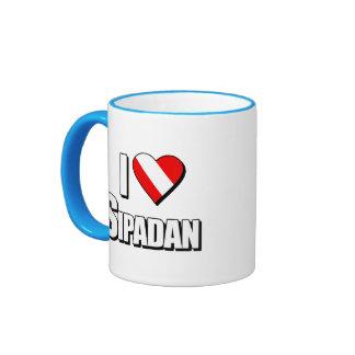 I Love Sipadan Diving Ringer Coffee Mug