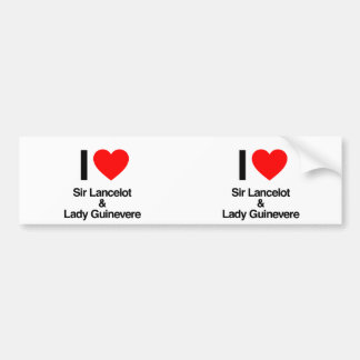 i love sir lancelot and lady guinevere car bumper sticker