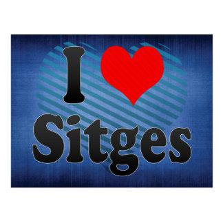I Love Sitges, Spain. Me Encanta Sitges, Spain Postcard