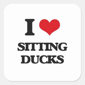 I love Sitting Ducks Square Sticker