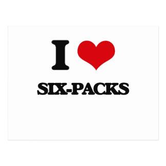 I Love Six-Packs Postcard