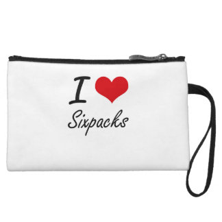 I love Sixpacks Wristlet Clutches